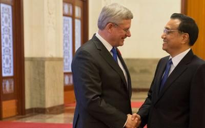 prime minister canada stephen harper china
